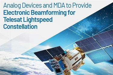 ADI delivers electronic beam forming technology for LEO satellite constellation